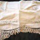 Battenburg Lace Mantle Scarf and Table Scarf Matching
