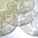 Federal Glass Georgetown Plate and Cup Set of Four