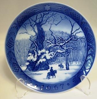 Royal Copenhagen The Royal Oak Christmas Plate 1967