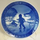 Royal Copenhagen Little Skaters Christmas Plate 1965