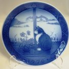 Royal Copenhagen Christmas Rose and Cat Christmas Plate 1970