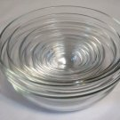 Arcoroc Glass 9 Piece Bowl Set Made in France