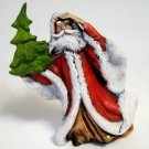 Windswept Old World Santa Figurine Ceramic