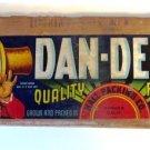 Dan-Dee-O Fruit Label Box End