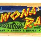 Wawona Ranch Fruit Label Box End