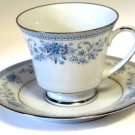 Noritake Blue Hill Contemporary Cup and Saucer Set