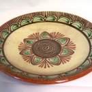 Mexican Style Pottery Large Shallow Bowl
