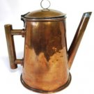 Vintage Copper Clad Pitcher Coffee Pot Hinged Lid