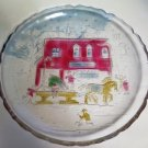 Holiday Christmas Glass Serving Tray Platter Antique Shoppe