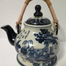 Asian Theme Teapot Bamboo Handle