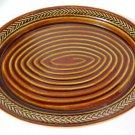 Vintage Hall Platter Laurel Leaves on Brown