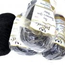 Vintage Phentex Yarn Black Celespun 4 Skeins 3 ply