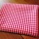 Red Gingham Heavy Cotton Tablecloth