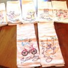 Embroidered Days of the Week Kitchen Towels Kittens