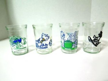 Tom and Jerry Welch's Jelly Juice Glasses Set of 4