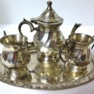 Silverplate Child's Coffee Tea Service Set Made in India