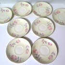 Homer Laughlin Eggshell Nautilus Pastel Rose Saucers 8