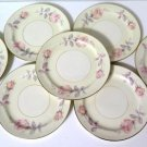 Homer Laughlin Eggshell Nautilus Pastel Rose Salad Plates 7