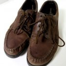 Dexter Walkamocs Leather Dk Brown Womens Sz 9