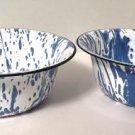 Blue & White Splatter Ware Bowls EnamelWare GraniteWare