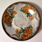 Ucagco poppy flower of the month saucer august lustre luster