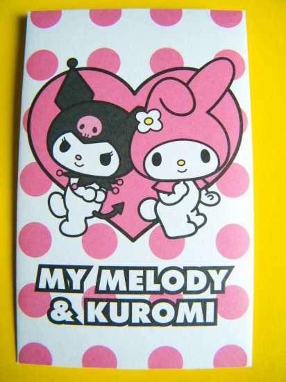 8 Melody And Kuromi Sanrio Mini Envelopes and 8 Sticker Seals