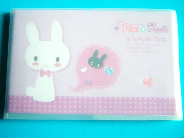 Kawaii Piano Rabbit Address Phone Book (Lilac)