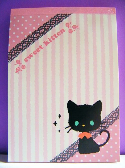 Kawaii Sweet Kitten Memo Pad, Made In Japan