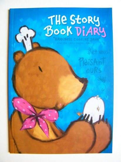 Happiness Cooking Bear Big Notebook With Lines, Made In Korea
