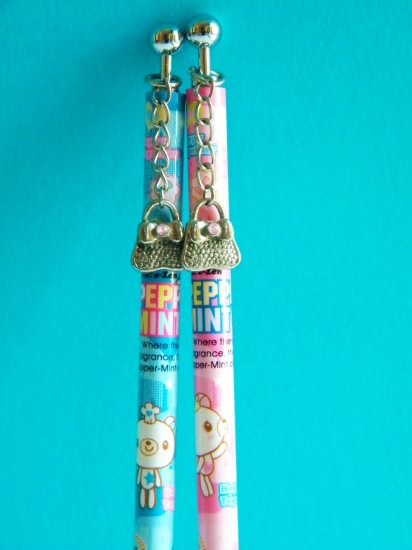 Happy Together Peppermint Bear Mechanical Pencil With Bag Charm,Made In Korea (Choose 1 )