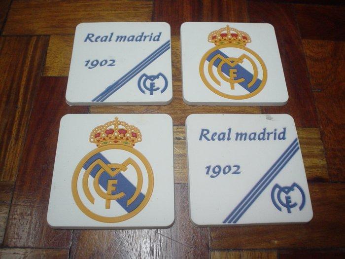 REAL MADRID CF COASTERS   FOOTBALL   SOCCER