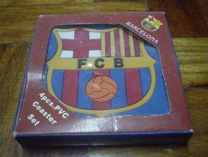 BARCELONA FC TABLE COASTERS   SOCCER/FOOTBALL