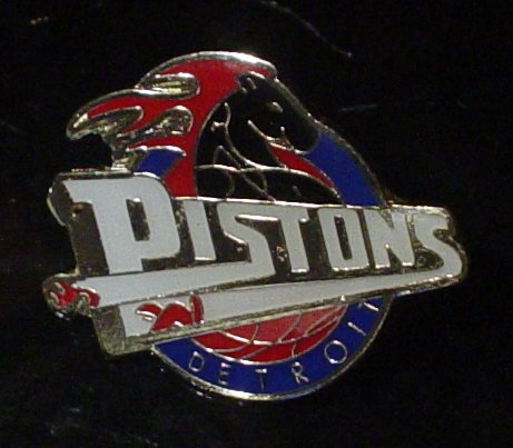 NBA Detroit Pistons Crest Pin