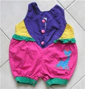 3 color Short overalls size 12 m