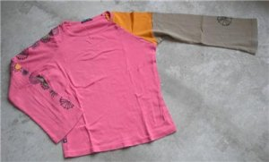 Pink women's cotton shirt blouse long sleeves size 2