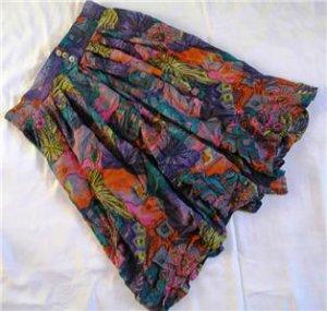 Purple colorful split skirt / pants sz 42