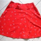 Red knee length hearts Skirt SZ 40