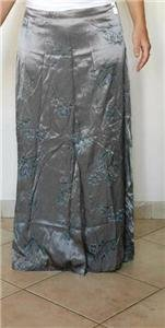 "Gray flourish long maxi Skirt by ""Decked Out"" Sz s"