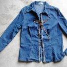 Women's jeans shirt blouse size 1