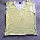 Yellow knitted junior vest jersey size 1