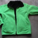 WOMEN BLACK & GREEN SWEATSHIRT JACKET TWO SIDED SZ M