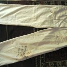 WHITE WOMEN'S CROPPED 3/4 CARGO PANTS TROUSERS sz 1