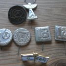 7 Beautiful original Israel Indepedence Day lot collection pin medal