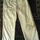JUMP FIRST Women Junior cropped cargo beige pants trousers Pantaloni Hosen size 38