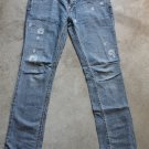 LEVI'S Patty Anne junior blue jeans dżinsy low rise square cut slim leg pants trousers Hosen