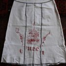 UNUSUAL A-line linen white jupe rock gonna falda skirt sz S