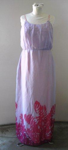 Womens ADAC pink long maxi sleeveless straps kleiden vestire dress robe sz 14