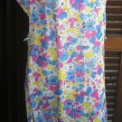 Floral short sleeves / sleeveless dress robe kleiden vestire sz 44