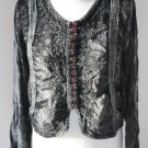 Velvet shirt with embroidery dark olive green khaki camicia blouse top jacket free size