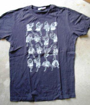 UNIQLO black tee T-shirt print short sleeves size M